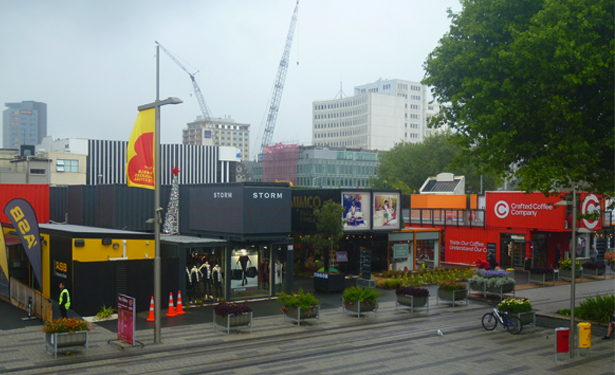 Christchurch NZ, Container Mall